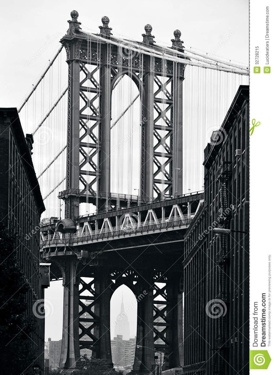 New york manhattan bridge clipart.