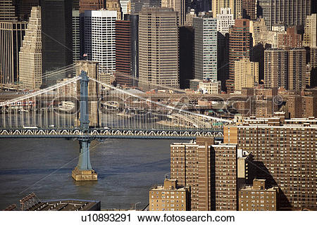 Stock Photography of Aerial view of New York City's Manhattan.
