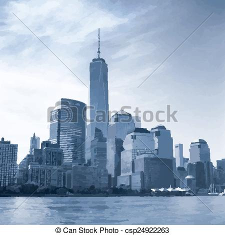 Clip Art Vector of Manhattan..