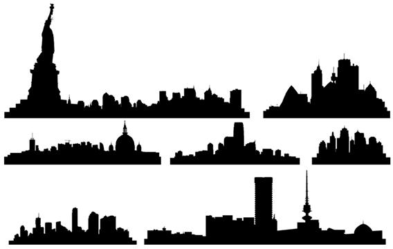 Manhattan skyline clipart.