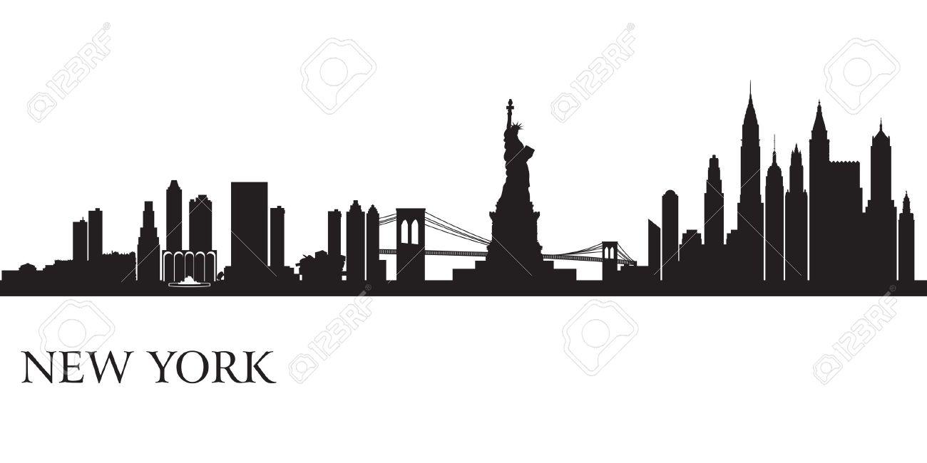 Line Art New York : Manhattan skyline clipart clipground