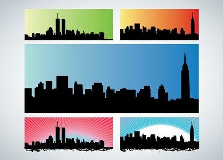 Manhattan Skyline Clip Art, Vector Manhattan Skyline.