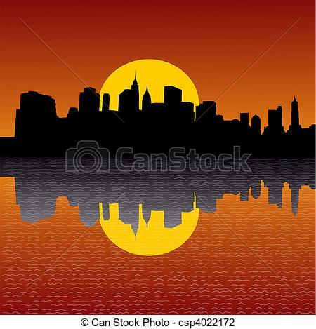 Manhattan skyline Illustrations and Clipart. 1,280 Manhattan.