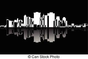 Clip Art Vector of Manhattan..