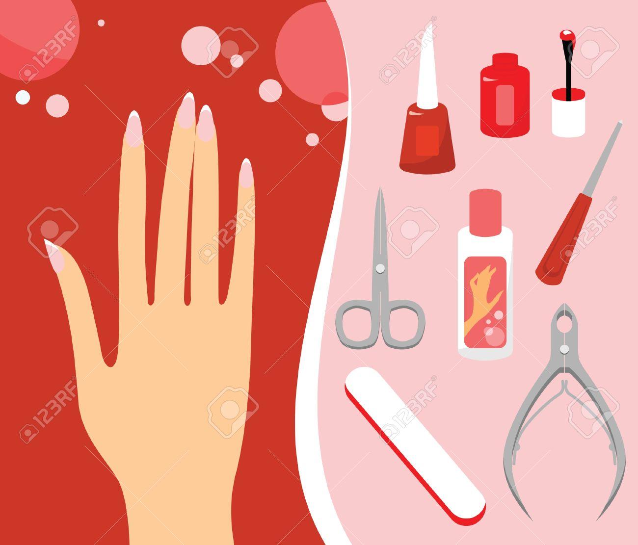 Manicure clip art.