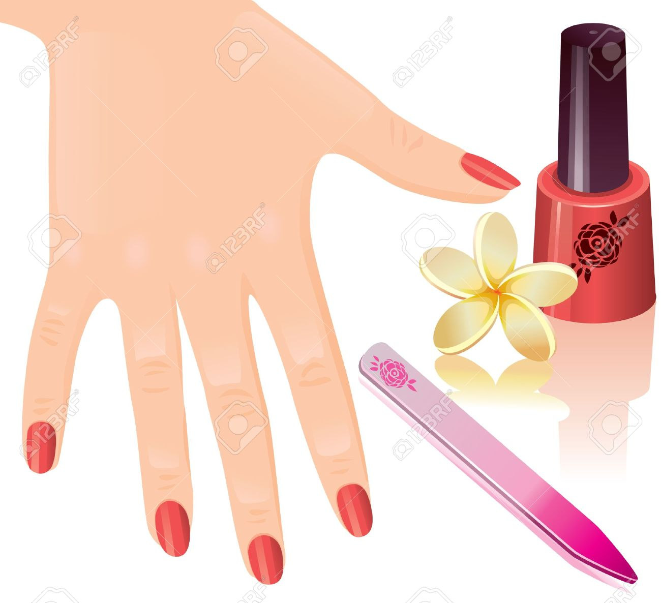 Manicure hand clipart.