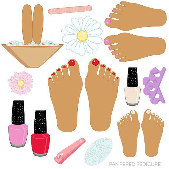 Pampered Pedicure V2 set comes with 13 clipart graphics.