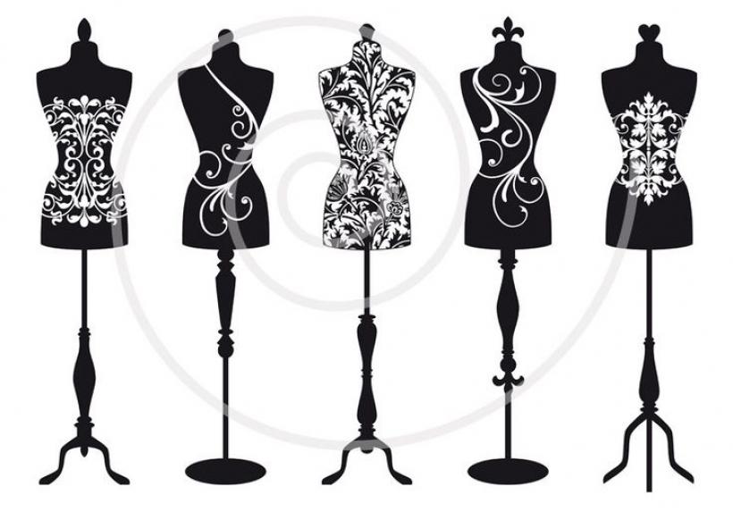 vintage mannequin silhouettes dress form tailor39s dummy fashion.