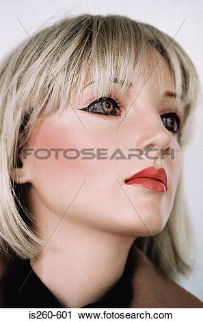 Stock Photography of Female mannequin face is260.