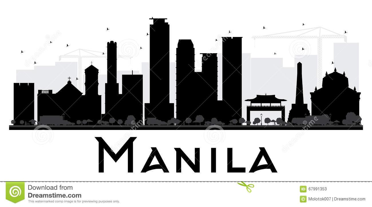 Manila Skyline Philippines Stock Illustrations.
