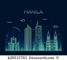 Manila skyline Clip Art EPS Images. 26 manila skyline clipart.
