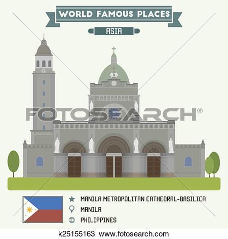 Clipart of Manila Metropolitan Cathedral.