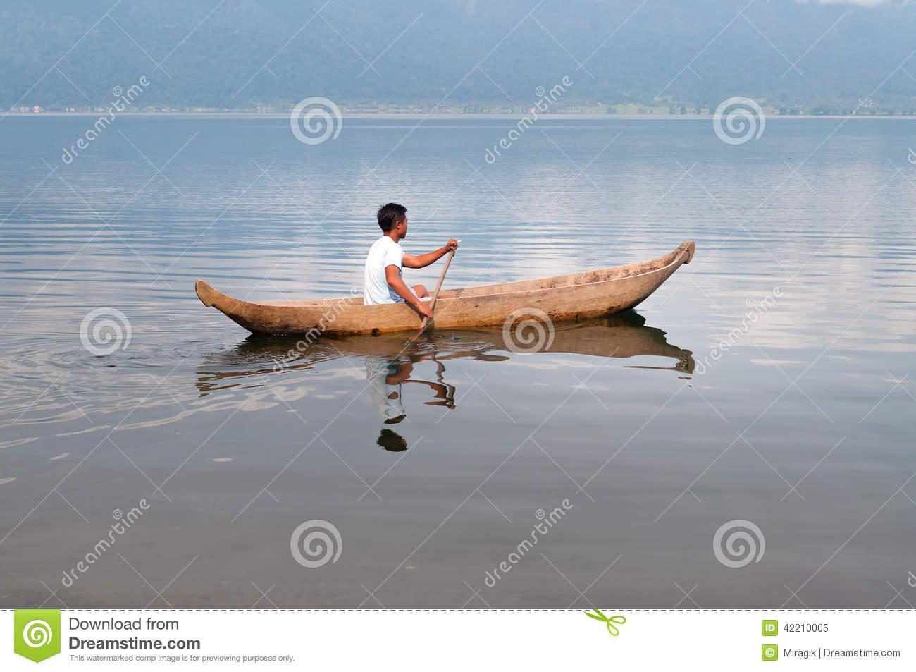 Indonesian Fisherman At Lake Maninjau (Danau Maninjau) Editorial.