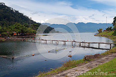 Lake Maninjau View, Bukittingi, West Sumatra, Indonesia Stock.