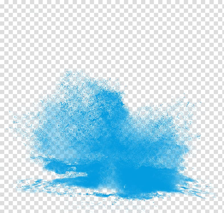 Blue powder, Software manipulation Icon, The effect of water.