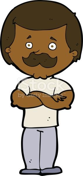 Cartoon Manly Mustache Man stock vector art 491941259.