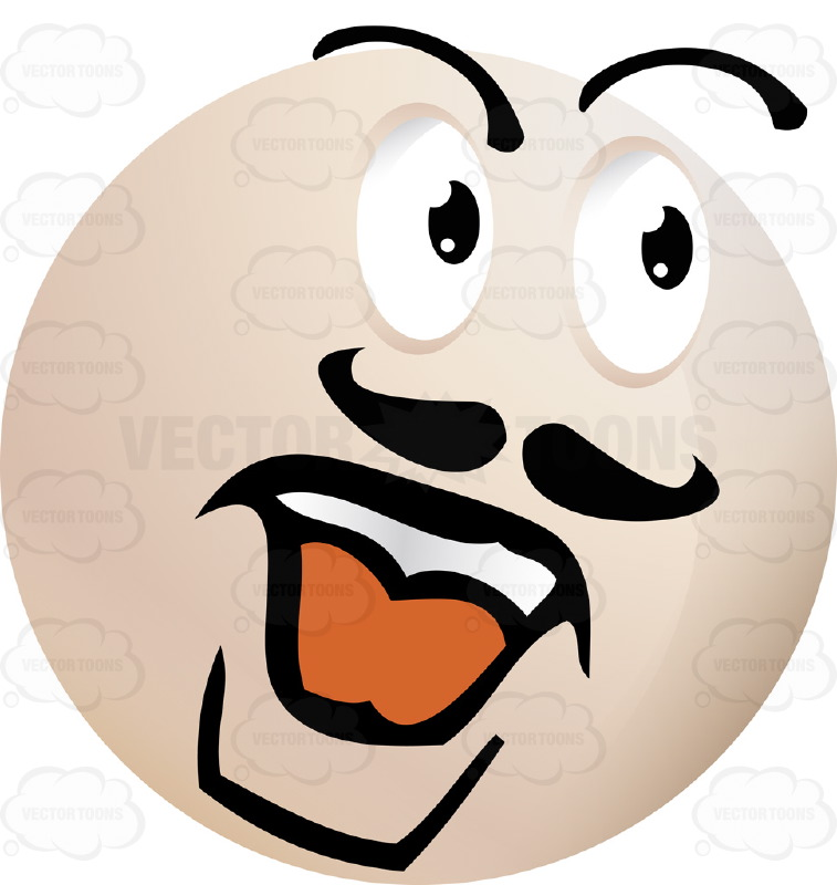 Mustache Strong Man Light Colored Smiley Face Emoticon With Strong.