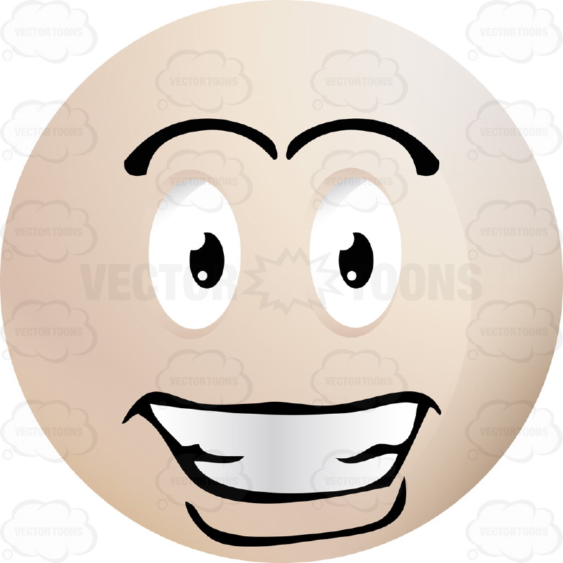 Handsome Smiling Light Colored Smiley Face Emoticon, With.