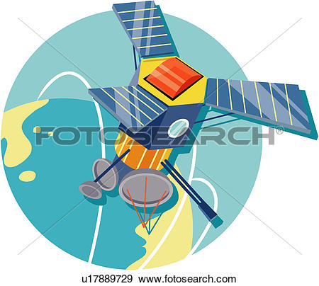 Clip Art of information and communications, modern architecture.