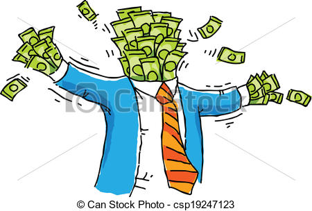 Vector Illustration of Money Man.
