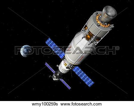Stock Illustration of A manned Soyuz TMA.