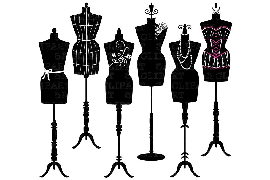 Mannequin Silhouette ClipArt.