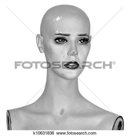 Stock Images of vintage mannequin doll k10631836.