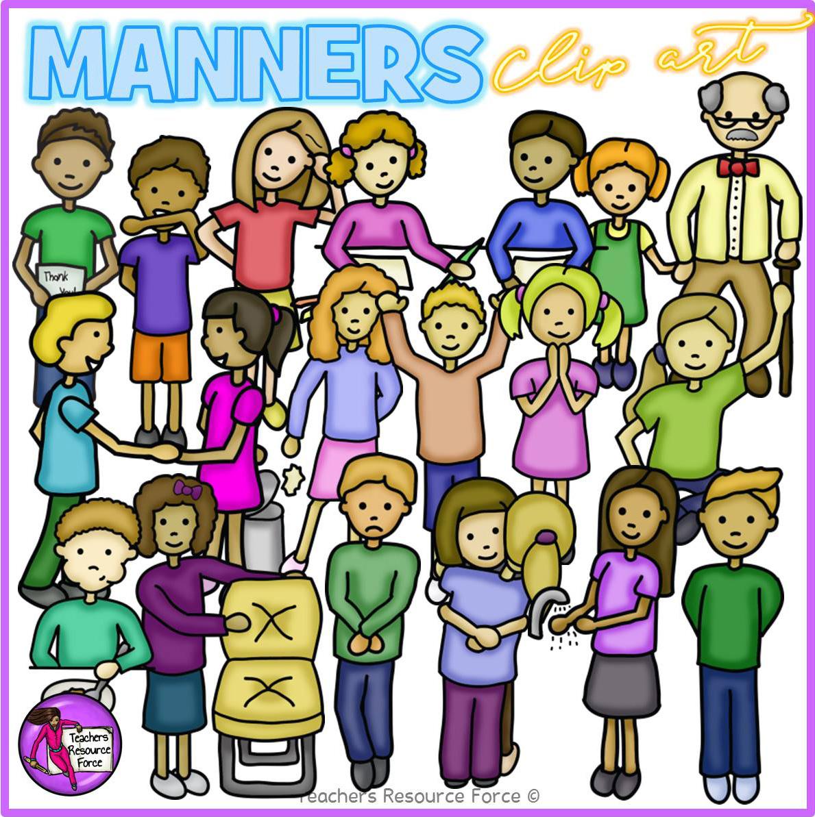 Kids Manners Clip Art.