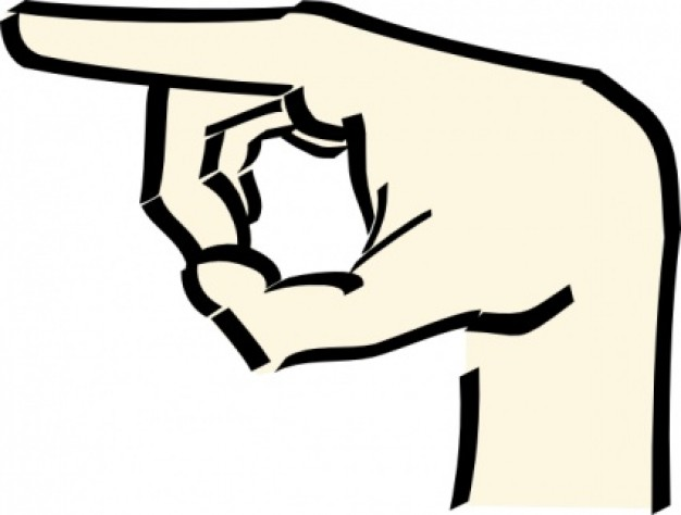 Hand Pointing Clipart.
