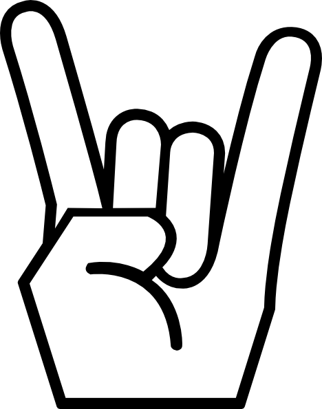 Rock Hand Sign Clipart.
