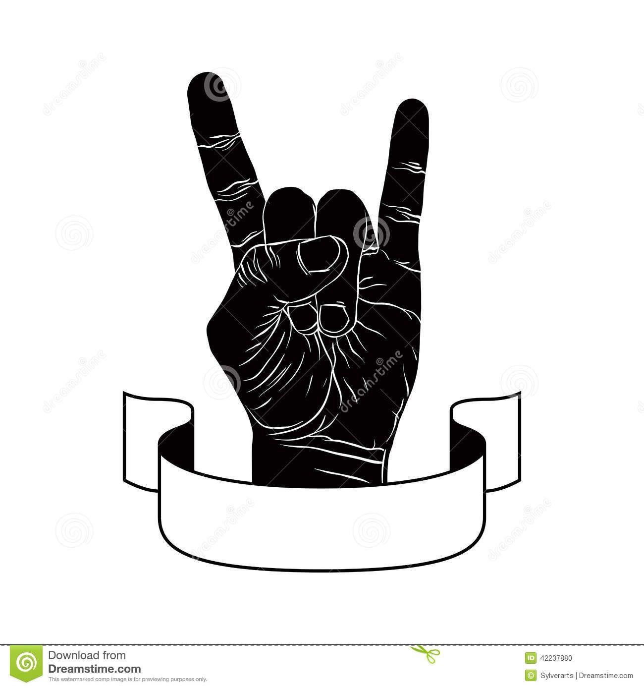 Rock On Hand Sign, Rock N Roll, Hard Rock, Heavy Metal.