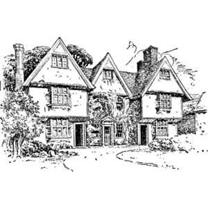 Manor House Clipart.