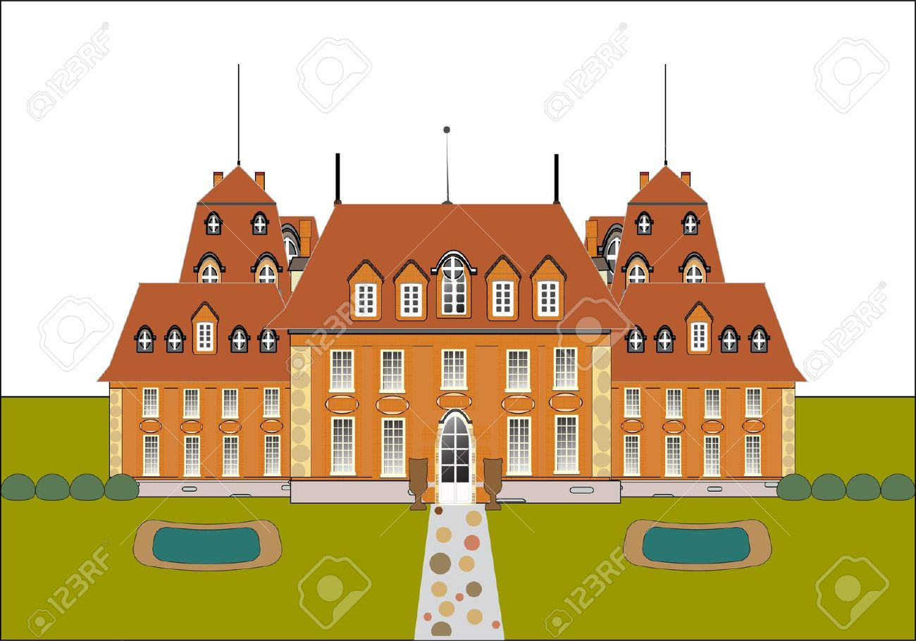 Cute Card. Castle Vector Royalty Free Cliparts, Vectors, And Stock.