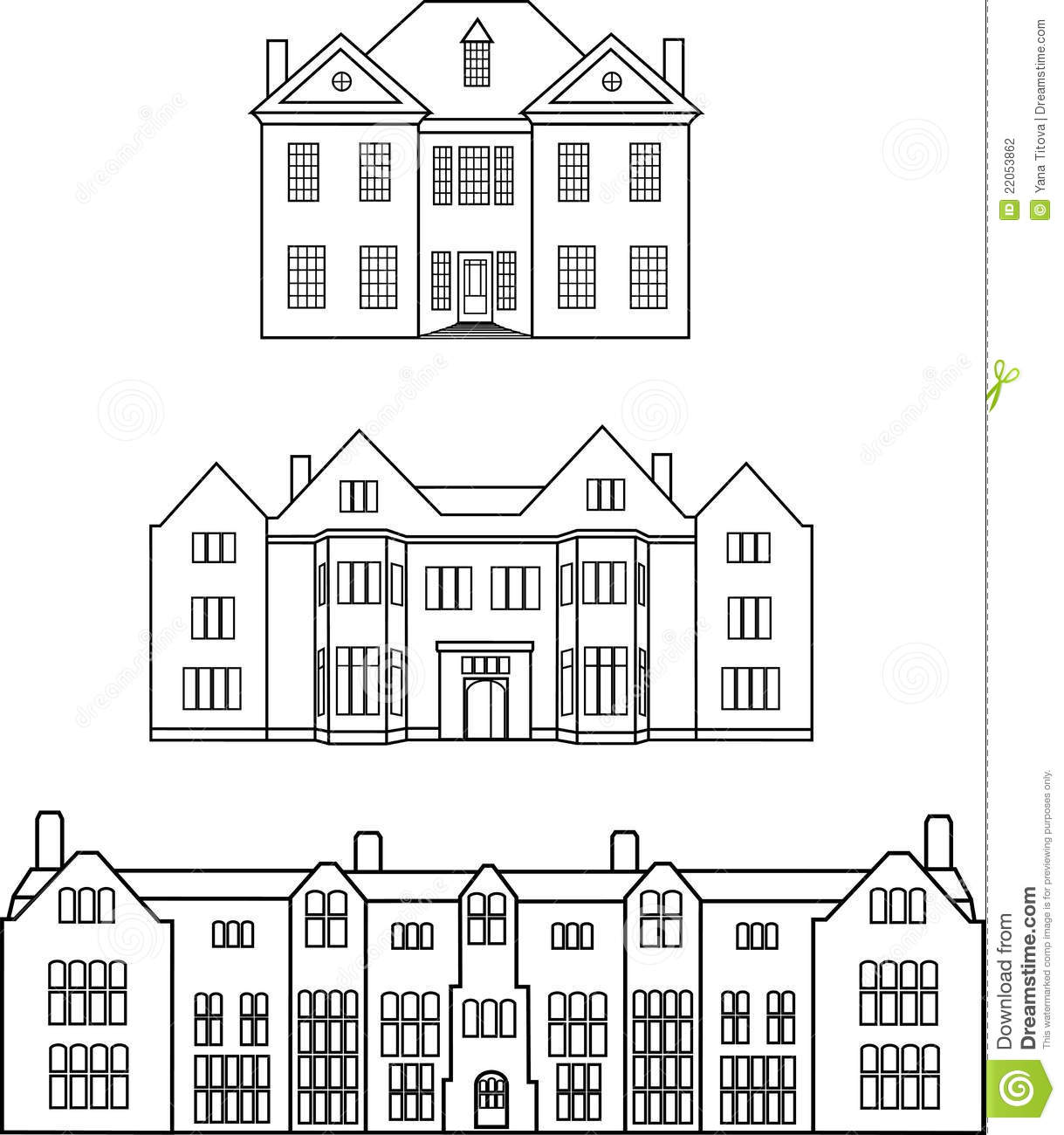 Manor Clip Art.