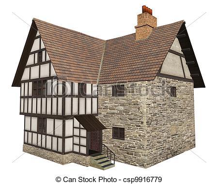 Midevil house clipart.