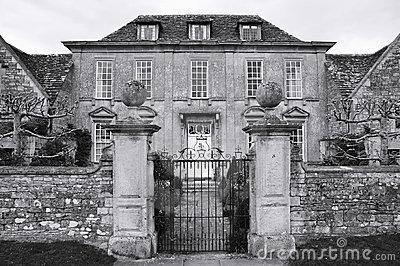 Gated Manor House Stock Photo.
