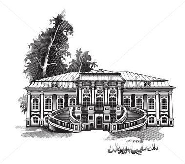 Manor House Clip Art.