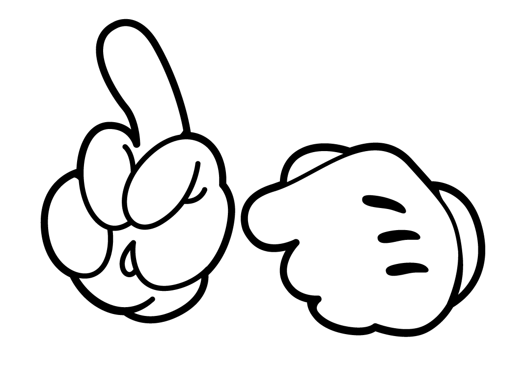 Mickey Mouse Hands or Gloves Templates. in 2019.
