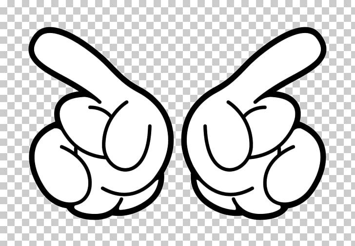manos de mickey mouse clipart #4
