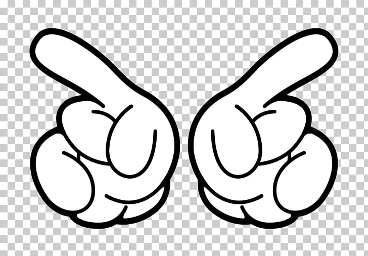 Two Mickey\'s Hands, two white hands illustration PNG clipart.
