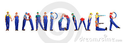 Manpower Service Stock Images.