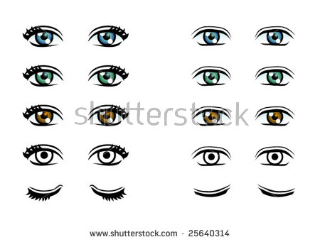 Vector outline eyes cartoon free vector download (17,520 Free.