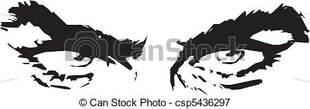 Vectors Illustration of Man's Eyes Vector csp5436297.