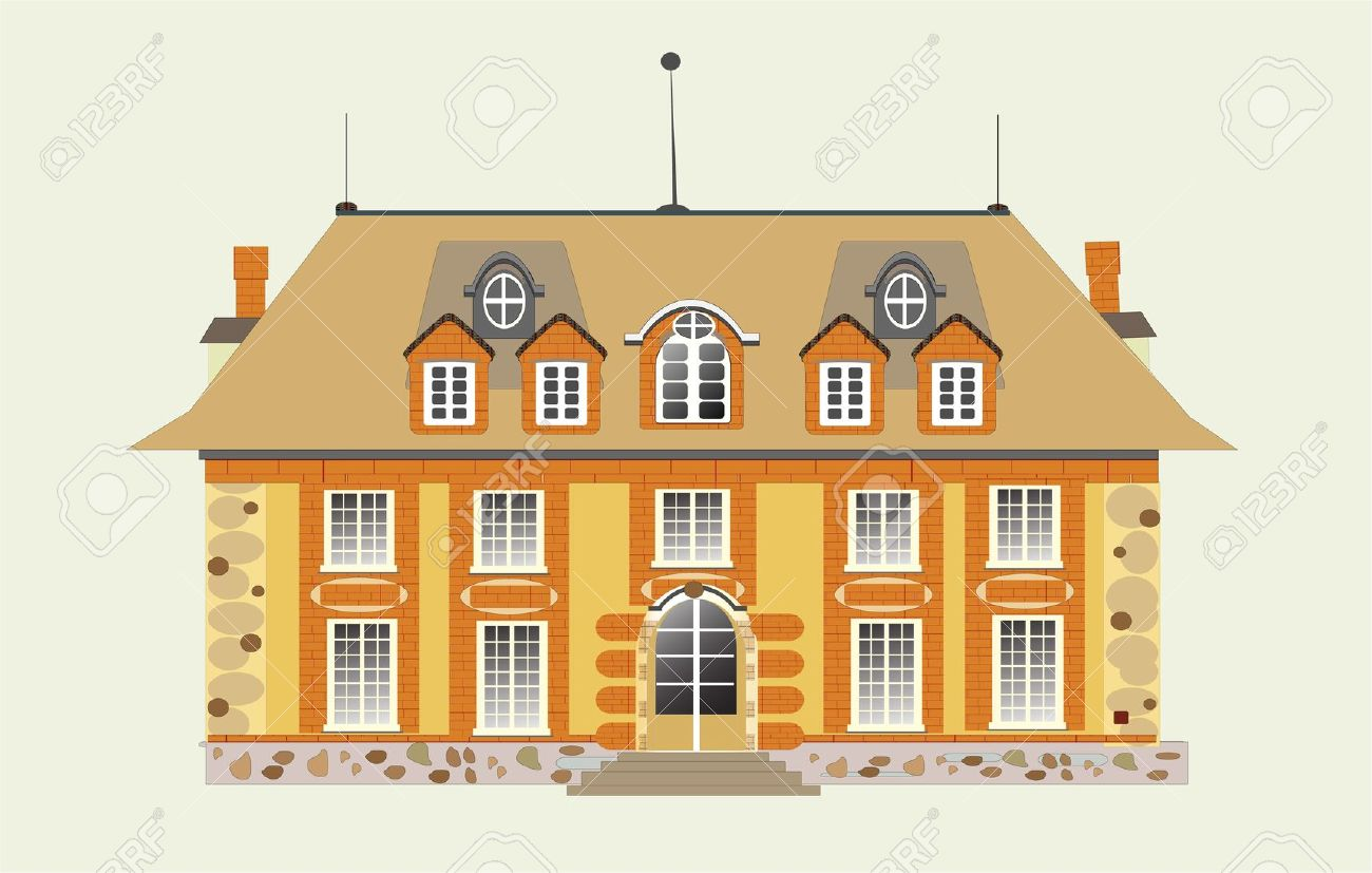 Mansion House Clipart.