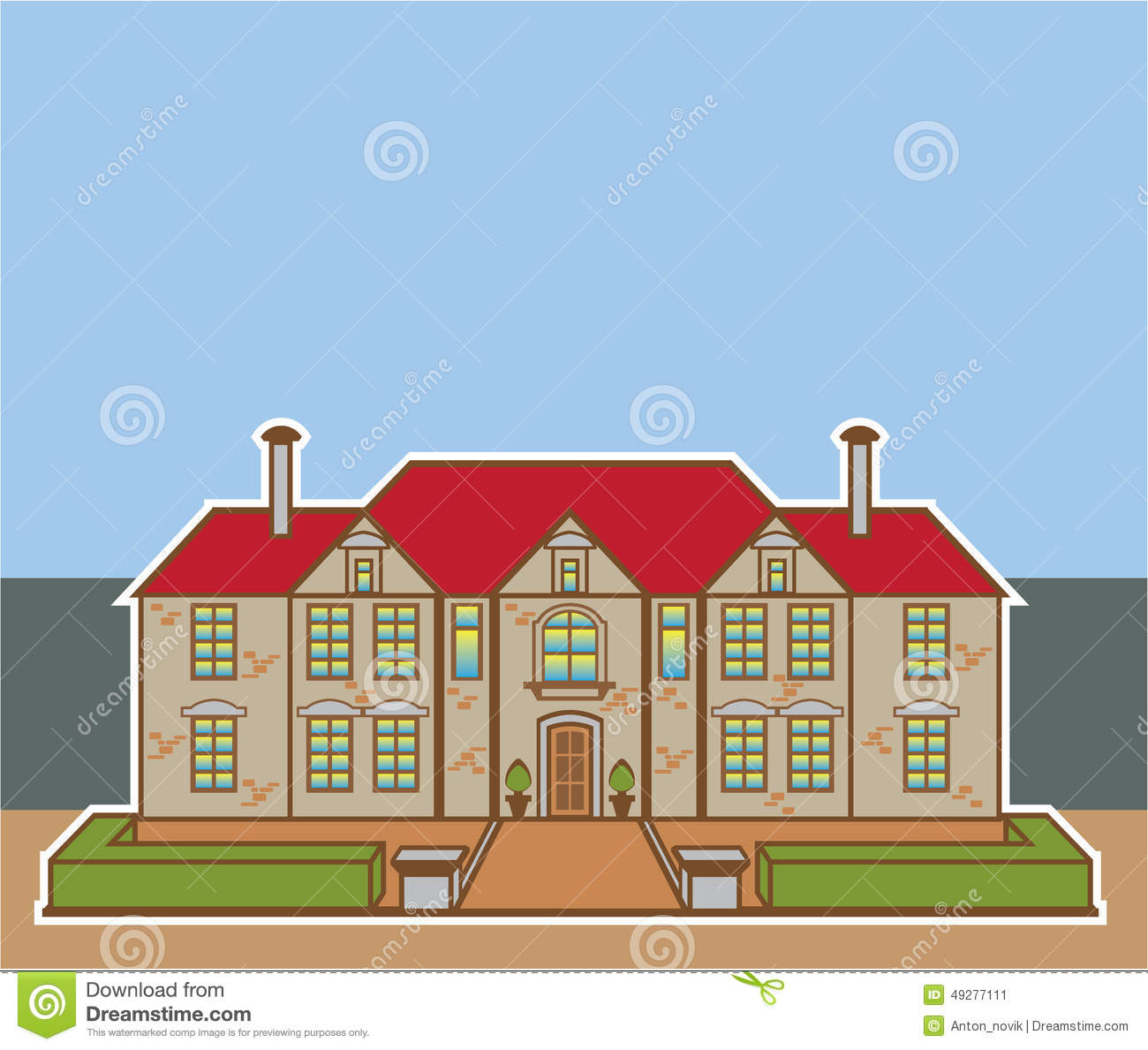 Mansions Clip Art, Mansion Free Clipart.
