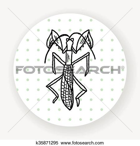 Clipart of Manti doodle k35871295.