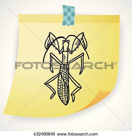 Clip Art of Manti doodle k32490849.