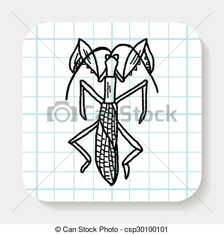 Vector Clipart of Manti doodle csp30100101.
