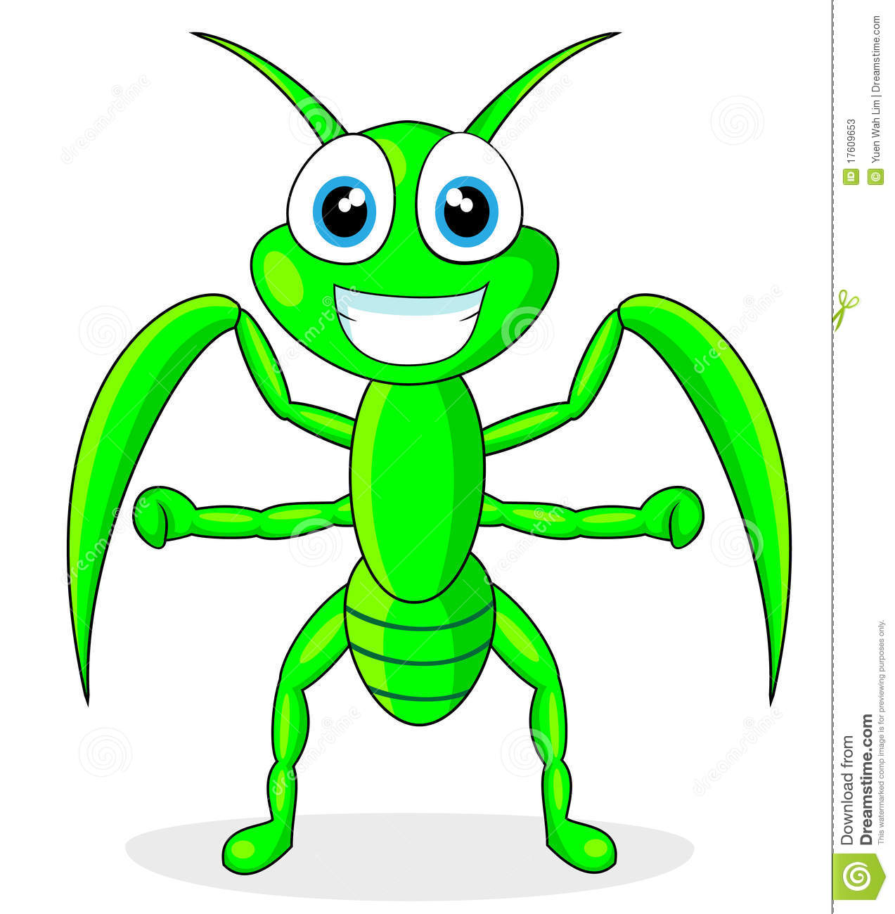 Mantis Cartoon Clipart.