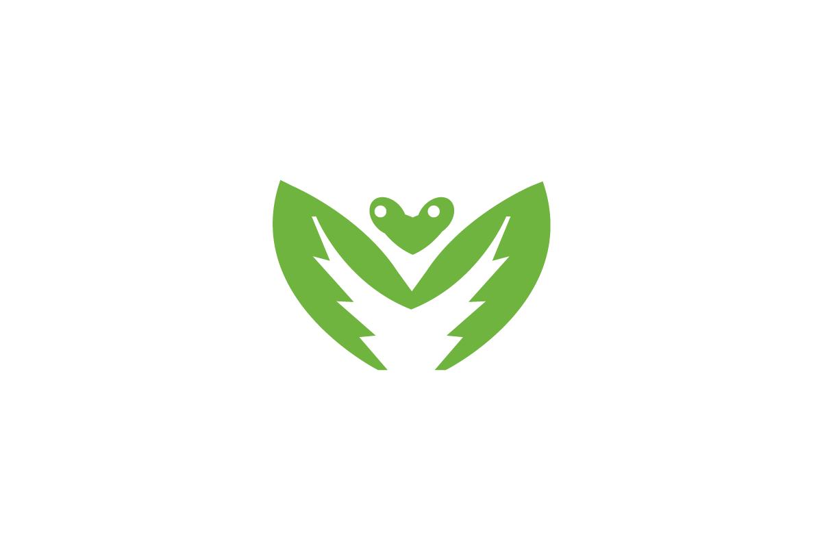 Mantismo Praying Mantis Letter M Logo.